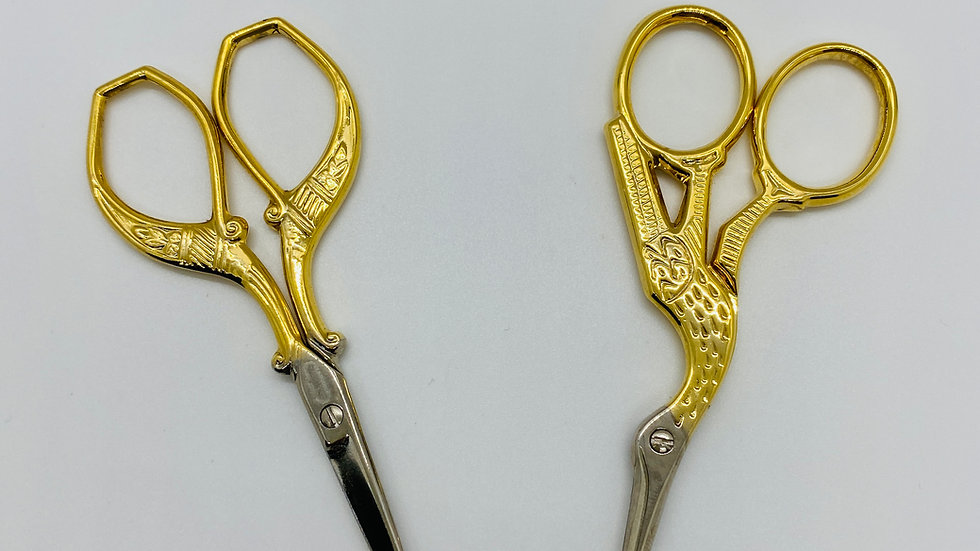 Janome Point Gold Colored Scissors