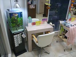 福島、美容室、水槽