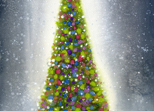 Shining Christmas Tree
