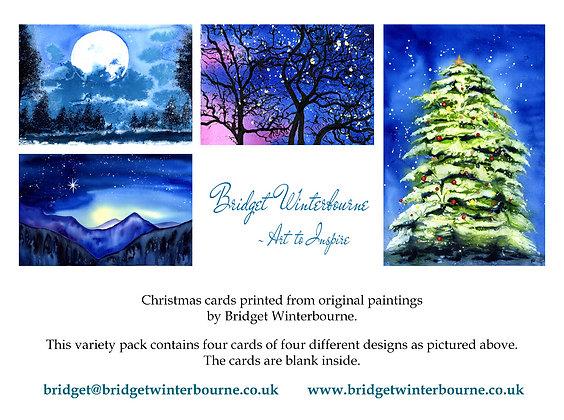 Christmas cards (4-pack, Landscape)