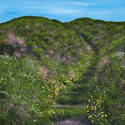 As the Wildflower Path Leads into the Blue