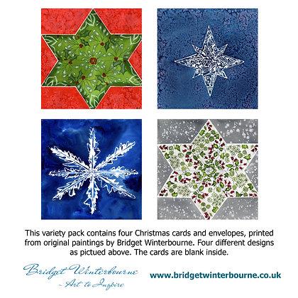 Christmas cards (4-pack, Mistletoe Star)