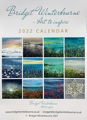 Bridget Winterbourne 2022 Calendar front cover