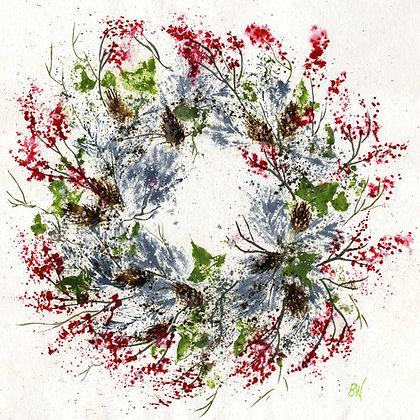 Pine Cones & Red Berries