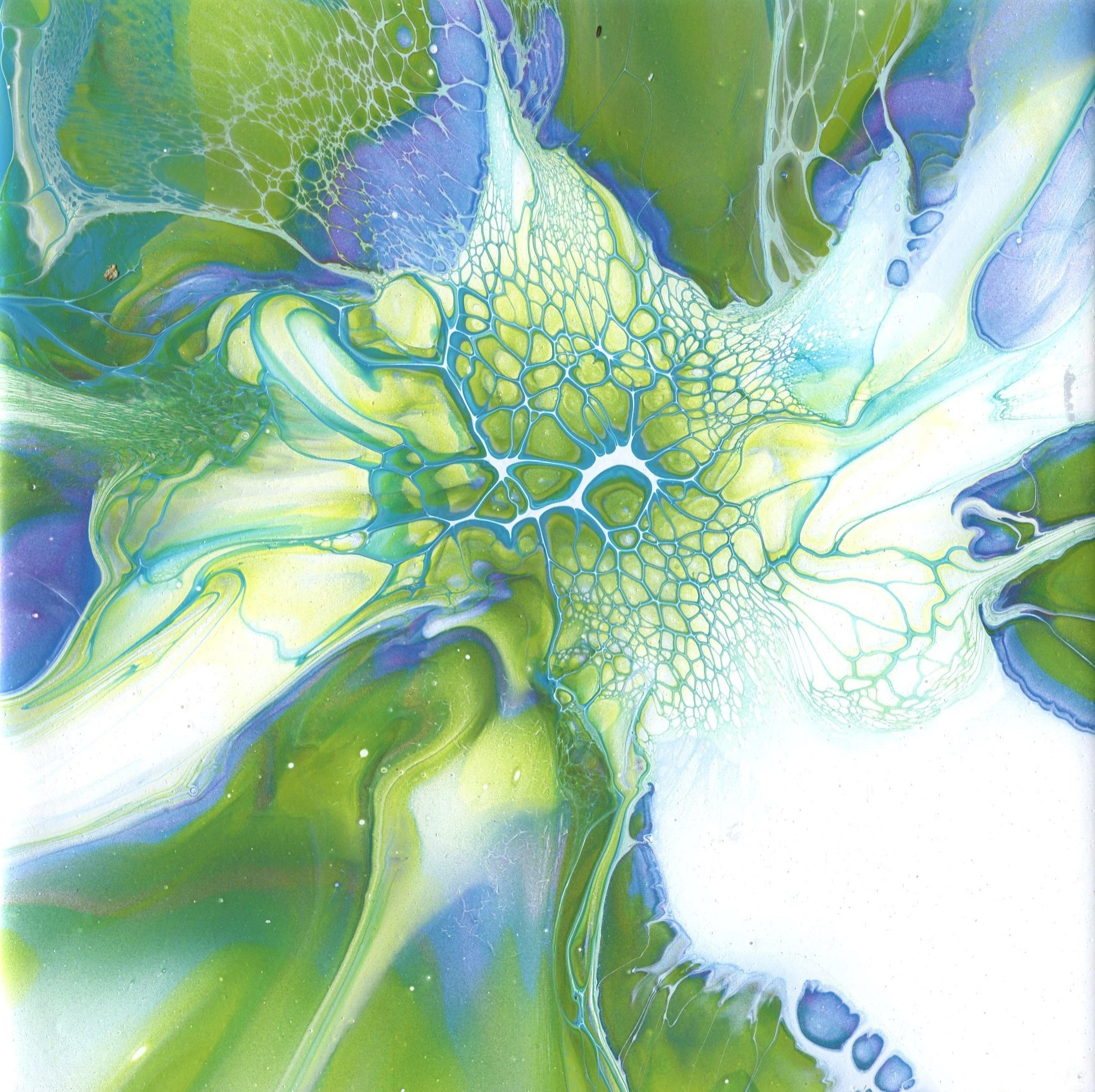 Lime Green Flower 2