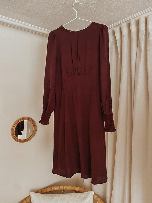 Kleid dunkel rot/rostrot