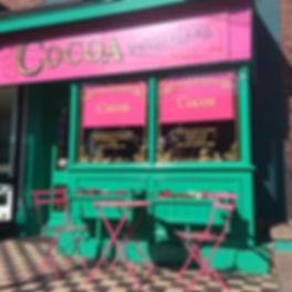 Cocoa, Cocoa Sheffield, Sheffield Cafe, Eccy Road, Ecclesall Road, sweet shop, coffee shop, chocolate shop, handmade chocolates, ice cream,