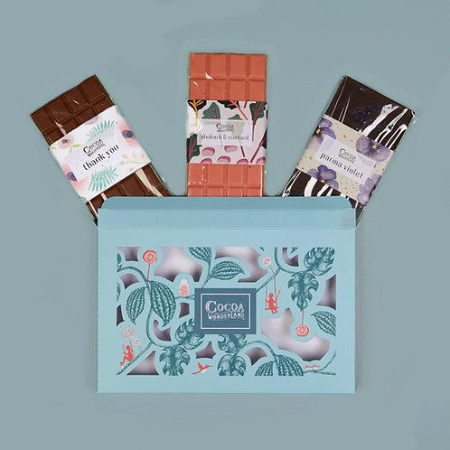 Thank you Chocolate Gift Box - 3 Handmade Chocolate Bars