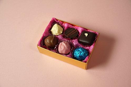 6 Chocolate Postal Selection Box