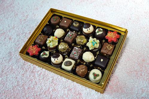 24 Christmas Chocolate Postal Selection Box