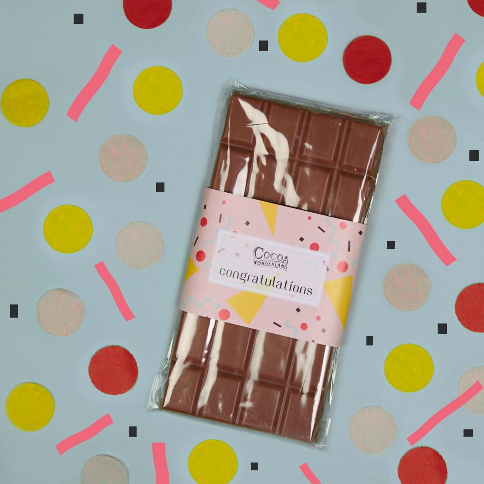 Cocoa Wonderland Congratulations Chocolate Bar