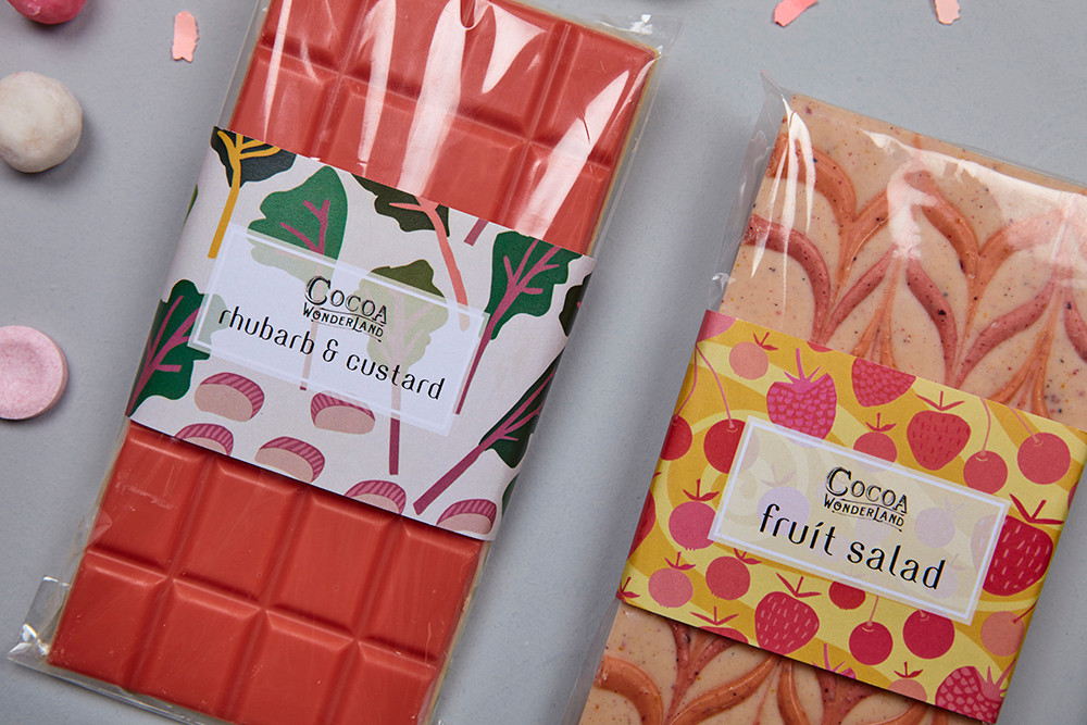 Gift boxes available online filled with Cocoa Wonderland Handmade Chocolate Bars
