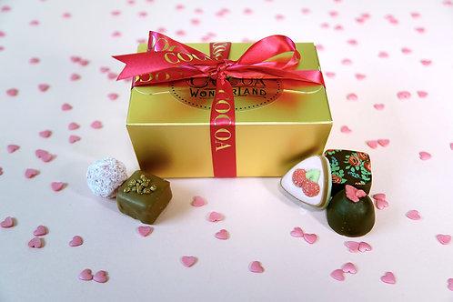 6 Valentines Chocolate Ballotin Box