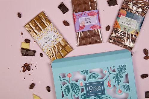 Milk Chocolate Gift Box - 3 Handmade Chocolate Bars