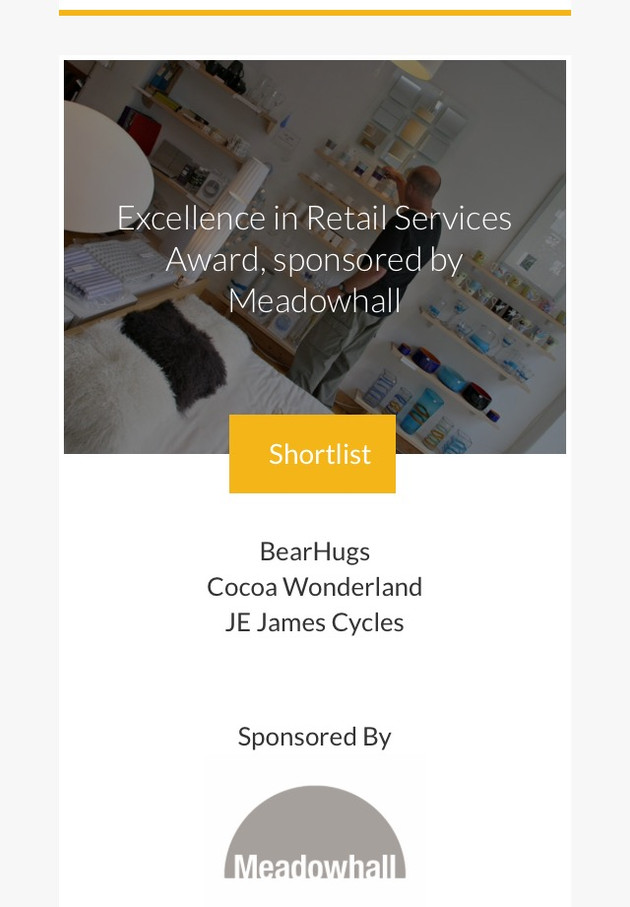 Thrilled to be Shortlisted for the Sheffield Business Awards!