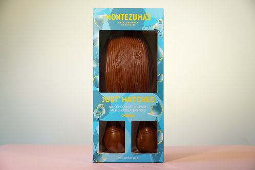 Montezumas Just Hatched Giant Milk Chocolate Egg with Chicks 600g