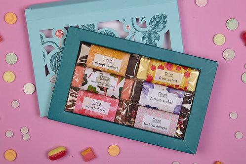 Sweetie Shop Chocolate Gift Box - 6 Sweetie Flavoured Handmade Chocolate Bars