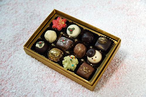 12 Christmas Chocolate Postal Selection Box