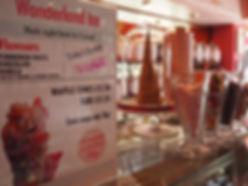 ice cream parlour, ice cream sheffield, handmade ice cream, ice cream parlour sheffield, wonderland ice, waffle cones,