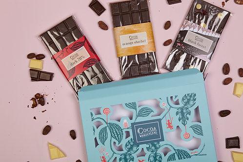 Dark Chocolate Gift Box - 3 Handmade Chocolate Bars