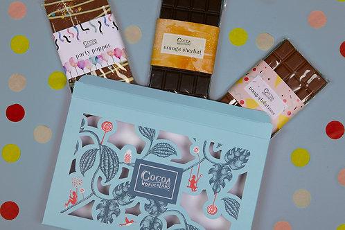 Congratulations Chocolate Gift Box - 3 Celebratory Handmade Chocolate Bars