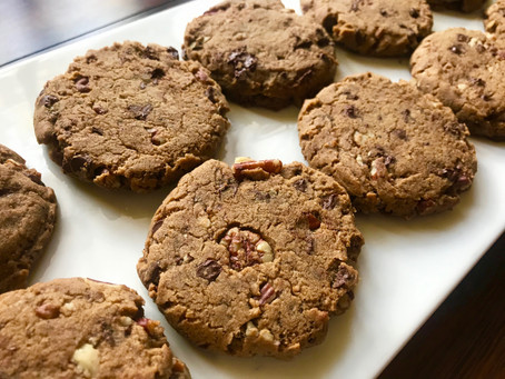 High Vibe Brown Butter Bourbon Pecan Chocolate Chip Cookies