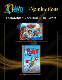 ANIMATED SERIES WIN 23 NOMS