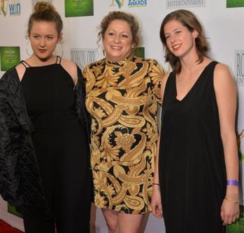 Honoree Abigail Disney & Daughters Olivia & Charlotte Hauser