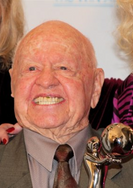 Mickey Rooney with Liz Taylor's Trophy -