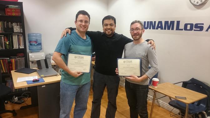 Primera generación de egresados de los cursos de español en la UNAM-LA