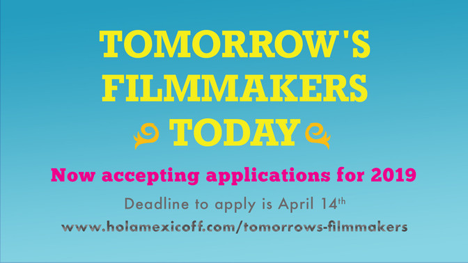 Scholarship for Tomorrow's Filmmakers Today 2019