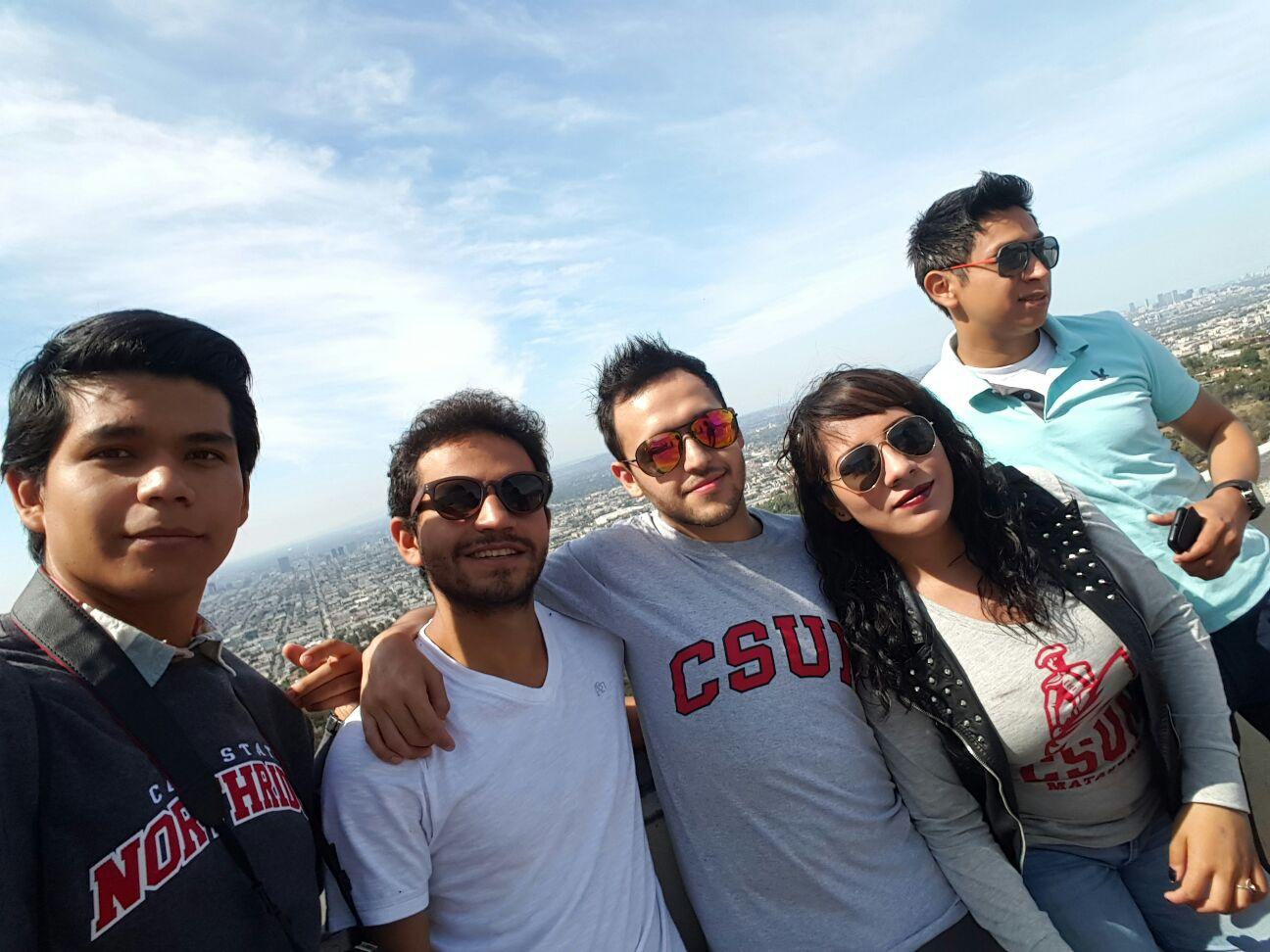 At the top of LA