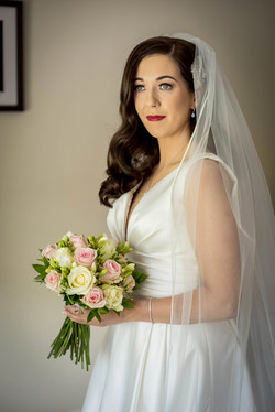 waves bridal hairstyle