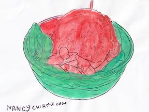 [Mdm Nancy Chia] Chendol and Char Kway Tiao I like, watercolor paint on paper, 28cm x 21cm