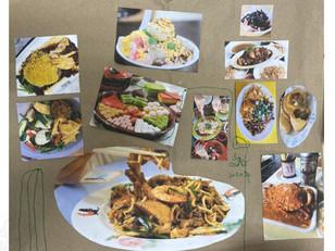 [Mdm Goh Lim Hee] Untitled, magazine collage on chicken rice paper, 19.5cm x 22.0cm