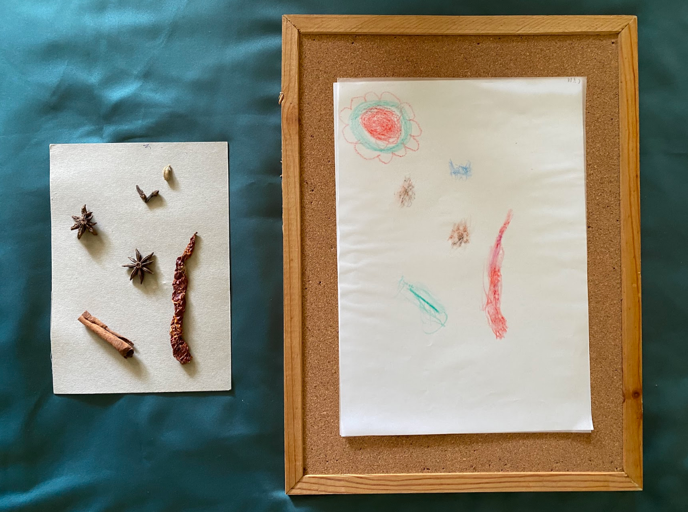 [Mdm Chan Yoke Heng] Untitled, pastel rubbing on tracing paper, 29.7cm x 21cm
