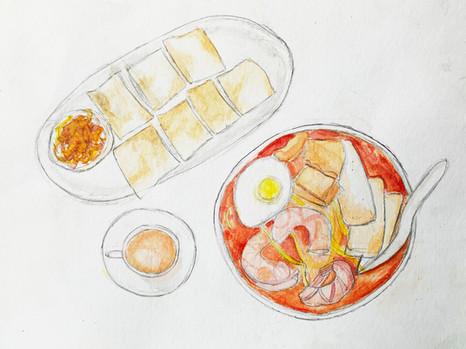A Taste of Home: Laksa -Thong Shu Ting