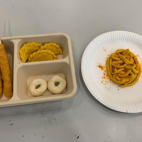 [Sarah Siddiq] Tok Wan, Dough, salt, wooden stick, curry powder, turmeric powder
