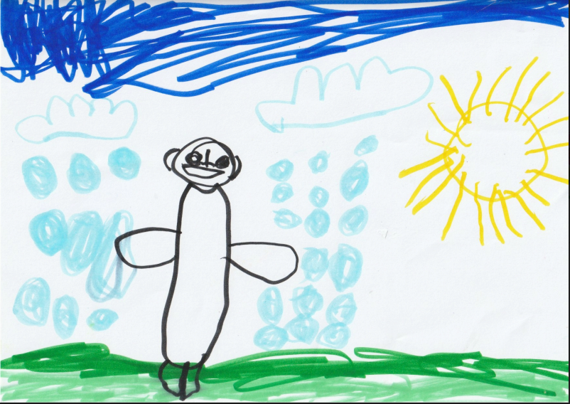 Hoi Leung, 4yo, Singapore  Covid self  Title: No matter shine or rain