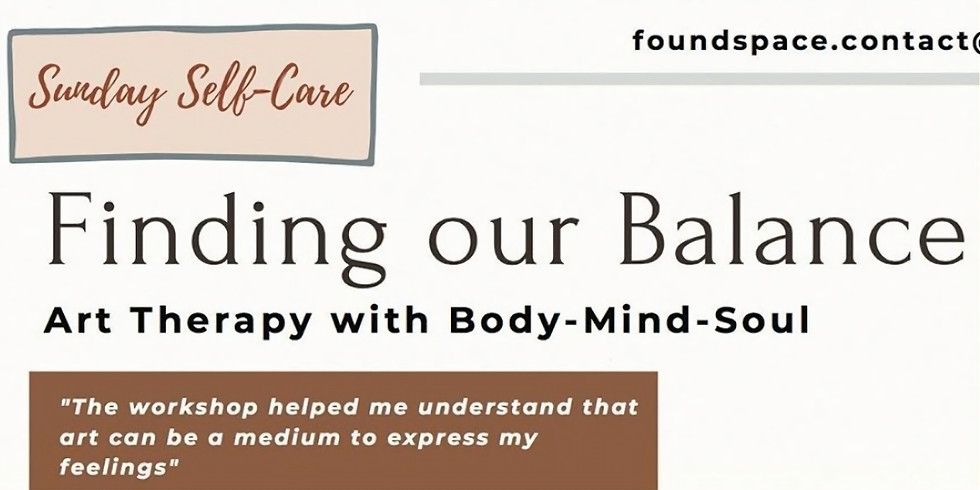 Finding Our Balance: Art Therapy for Mind-Body-Soul (online session)