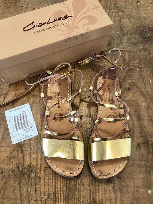 ARTIGIANO DEL CUOIO - Sandalo oro