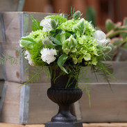 Urn with White and Green