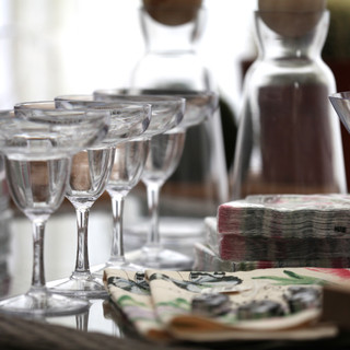 Martini glasses alfresco