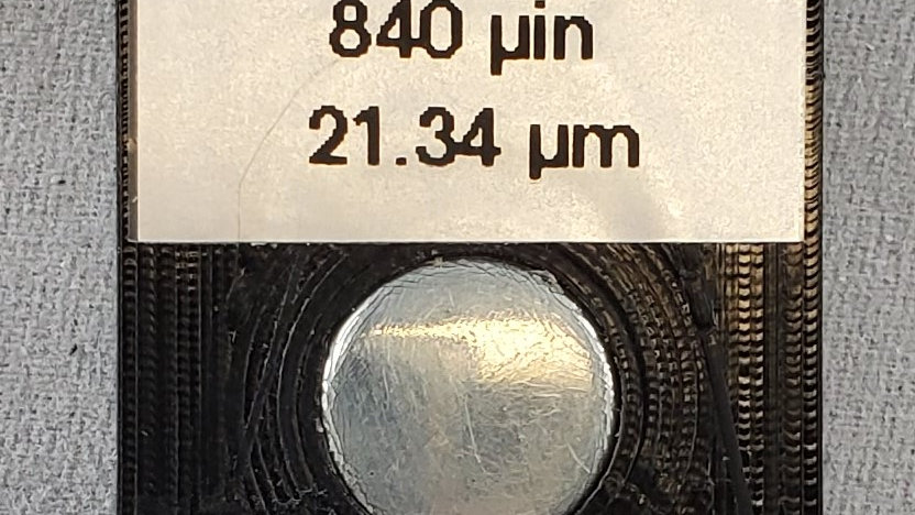 Zinc on Steel Calibration Standard 840 microinch (21.34 micron)
