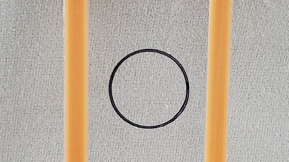 0.70 mils/17.84 um plastic calibration shim with ISO Certification