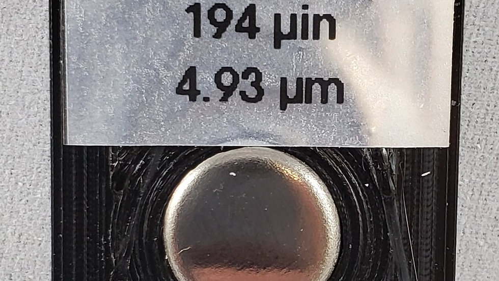 Electroless Nickel on Steel Calibration Standard 194 microinch (4.93 micron)