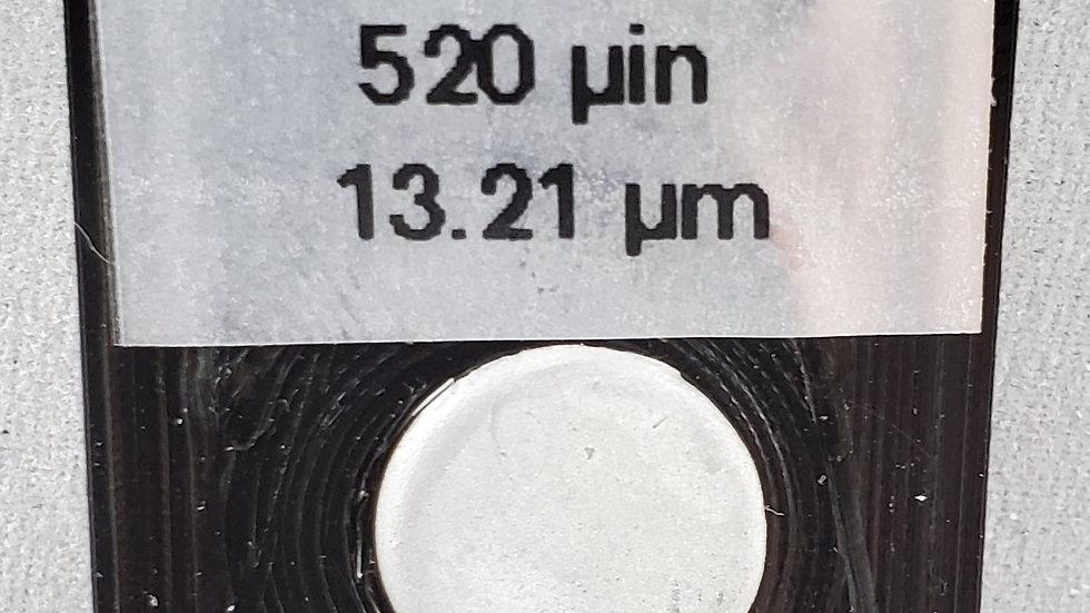 Cadmium on Brass 520 microinch standard (13.21 micron)