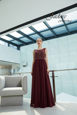 J19017 Sheath Dress Berry