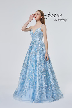 J19016 Blue Prom Dress