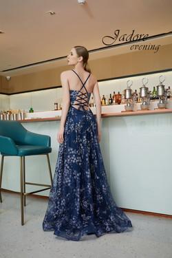 J19018 Navy Prom Dress